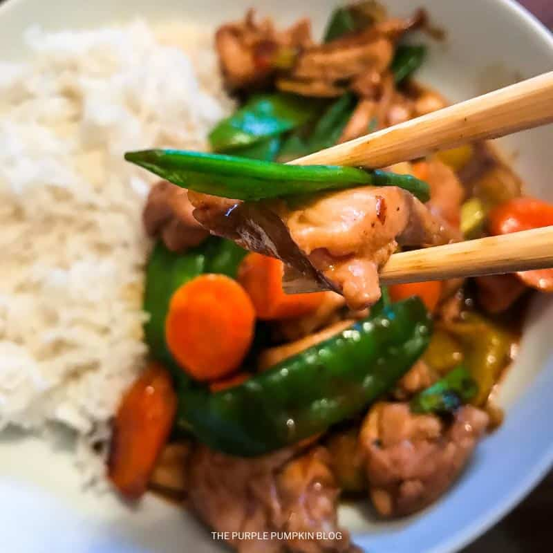 Chicken Stir-Fry and Rice