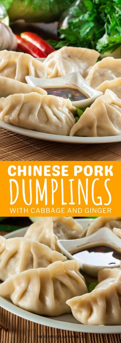 Chinese Pork Dumplings with Cabbage & Ginger