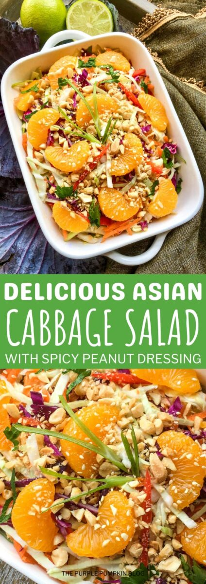 Delicious Asian Cabbage Salad with Spicy Dressing