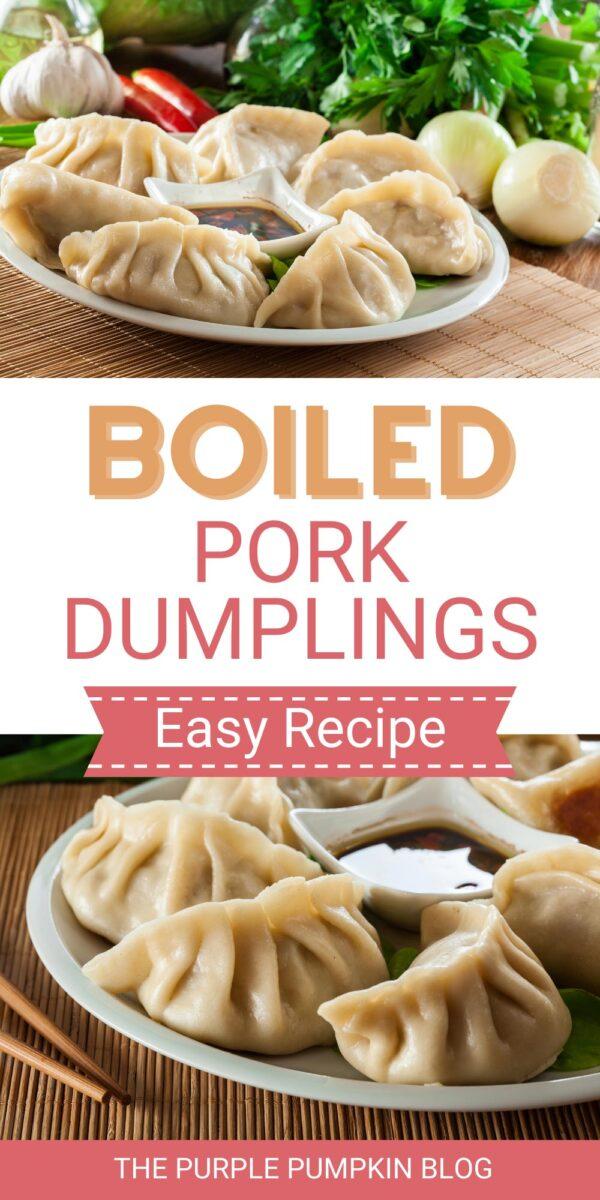 Easy Recipe for Boiled Pork Dumplings
