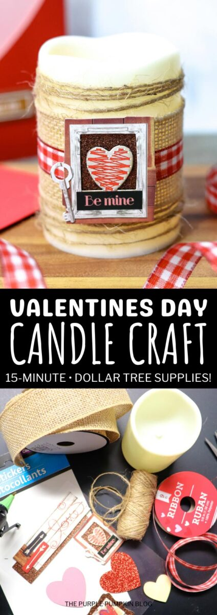 Easy Valentine's Day Candle Craft