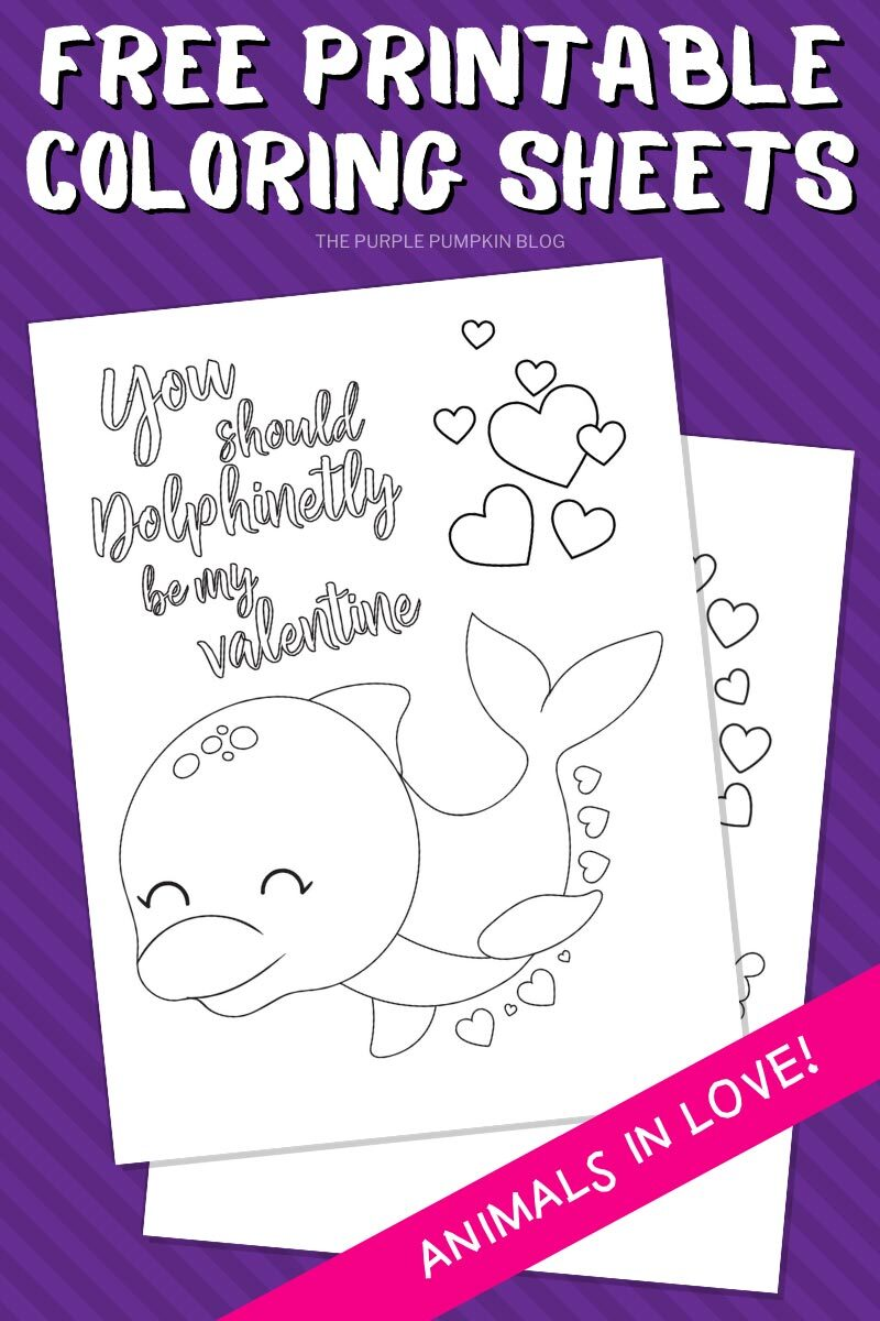 Free Printable Dolphin Coloring Sheets