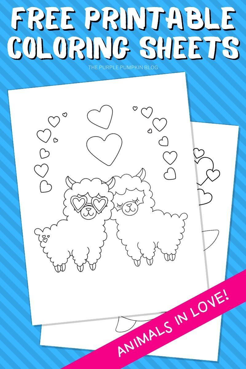 Free Printable Llama Coloring Sheets