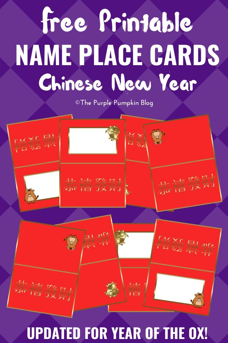 Name Place Cards for Chinese New Year - Year of the Ox!