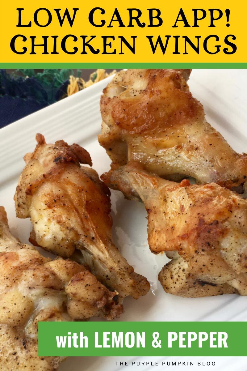 Low Carb App! Chicken Wings with Lemon & Pepper