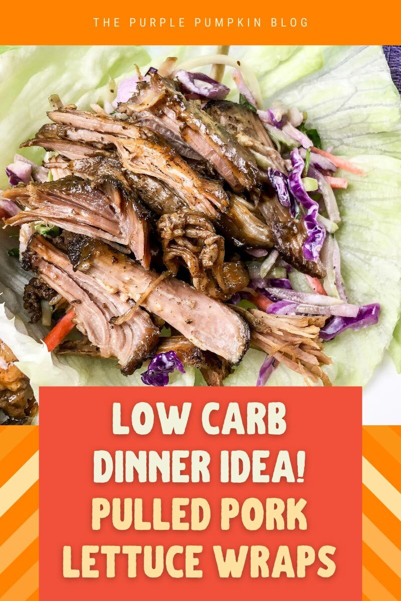 Low Carb Dinner Idea! Pulled Pork Lettuce Wraps