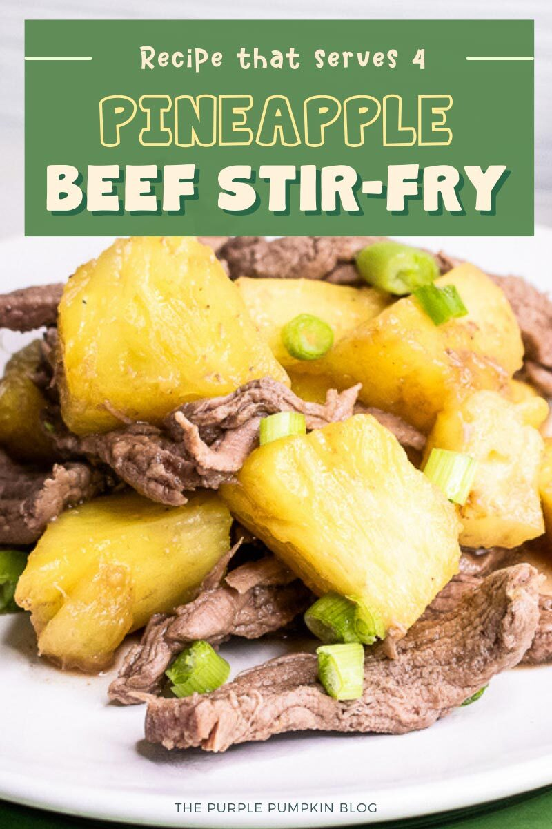 Pineapple Beef Stir-Fry Recipe for 4