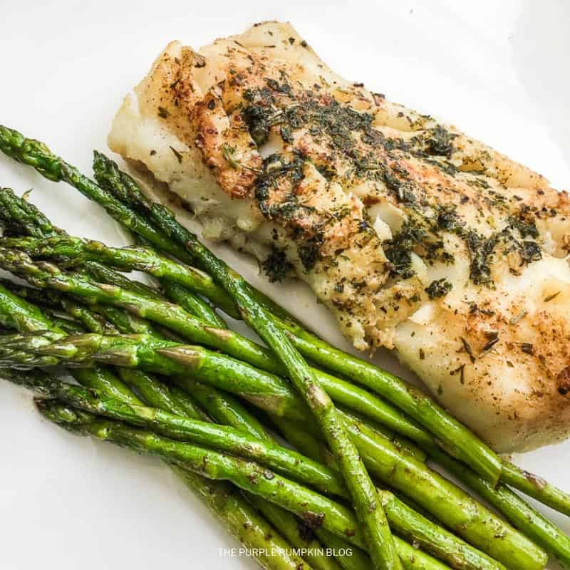 Recipe for Atlantic Cod with Garlic Herb Butter