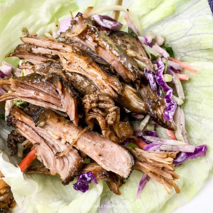 Recipe for Low Carb Pulled Pork Lettuce Wraps