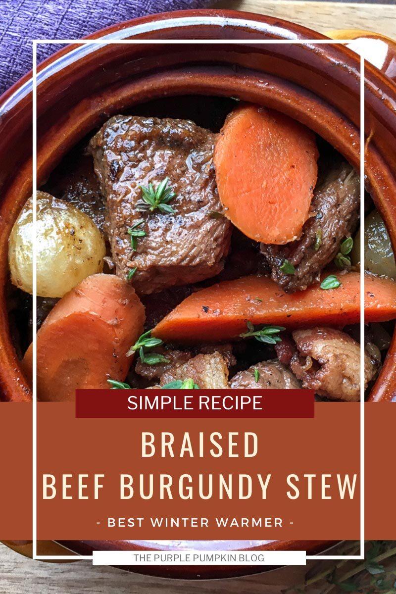 Simple Braised Beef Burgundy Stew