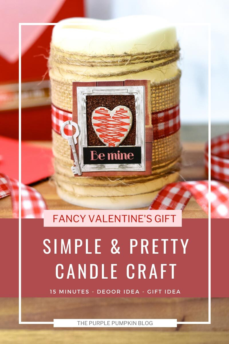 Simple & Pretty Candle Craft for Valentine's Day