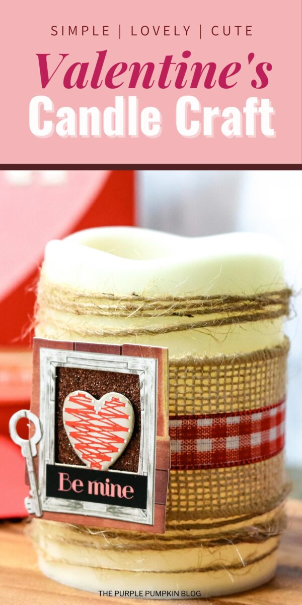 Simple Valentine's Candle Craft