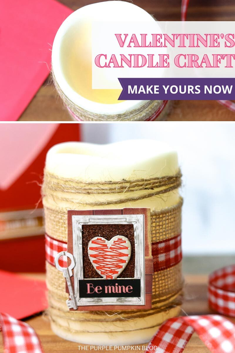 Valentine's Candle Craft