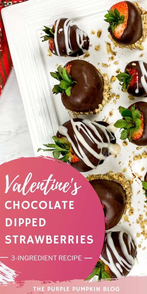 Valentine's Chocolate Dipped Strawberries
