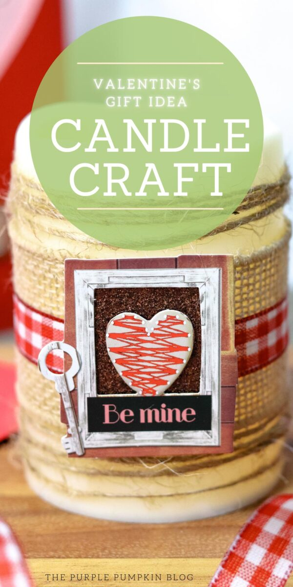 Valentine's Day Candle Craft Idea