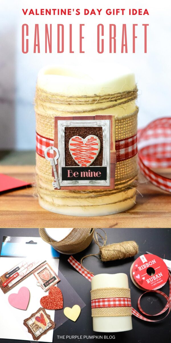 Valentine's Day Gift Idea Candle Craft