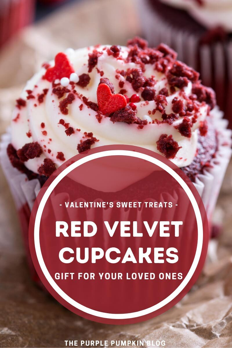 Valentine's Sweet Treats - Red Velvet Cupcakes - Gift For Your Loved Ones