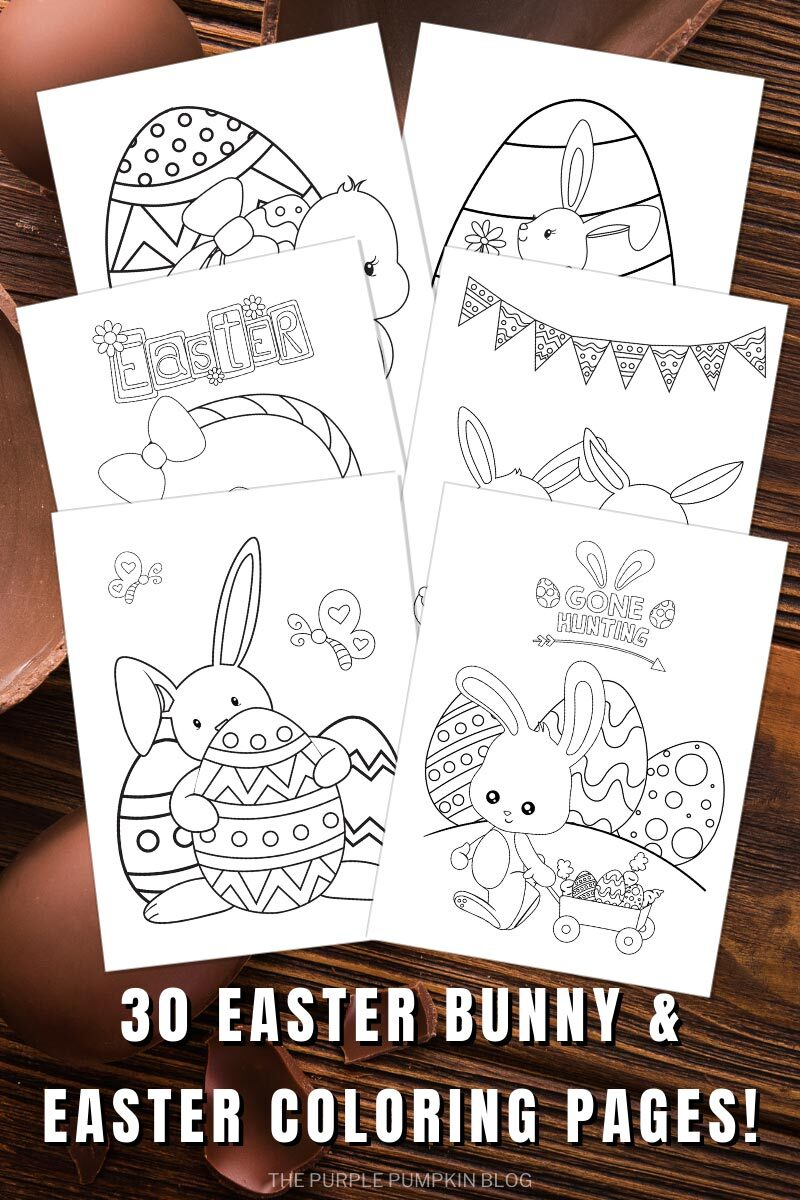 30 Easter Bunny and Easter Coloring Pages