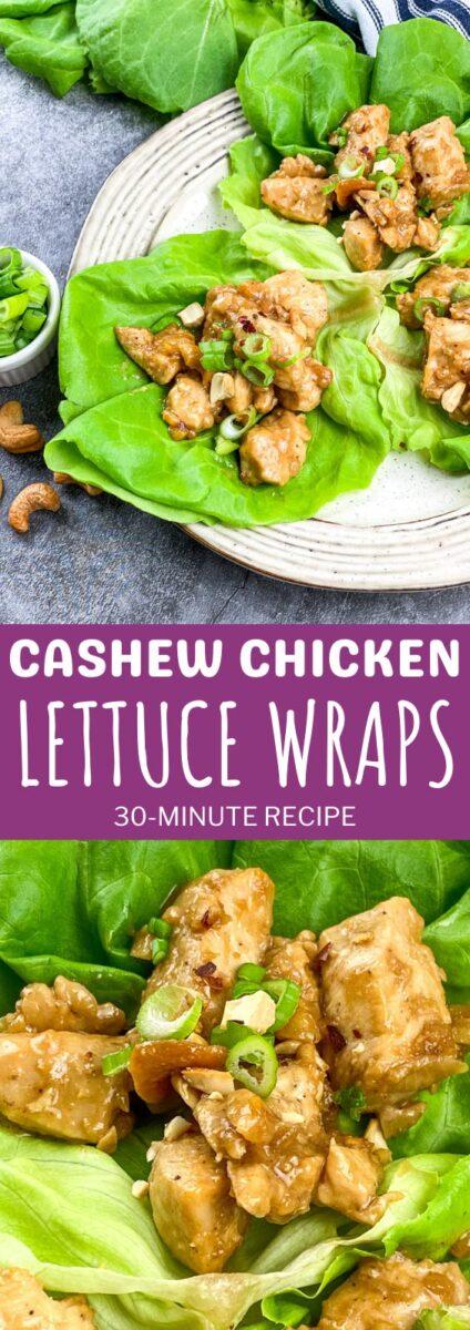 Cashew Chicken Lettuce Wraps - 30-Minute Recipe
