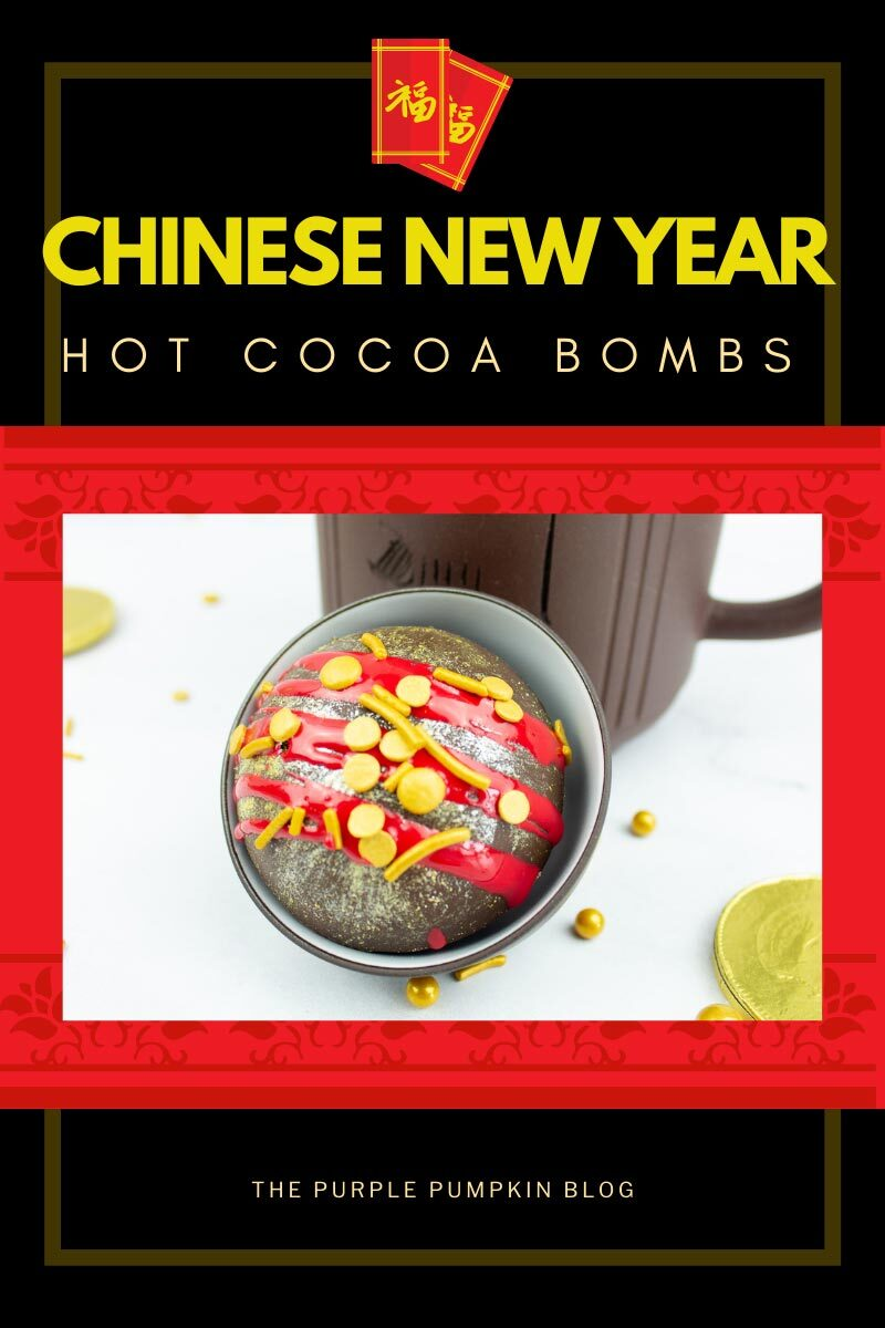 Chinese New Year Recipe for Hot Cocoa Bombs