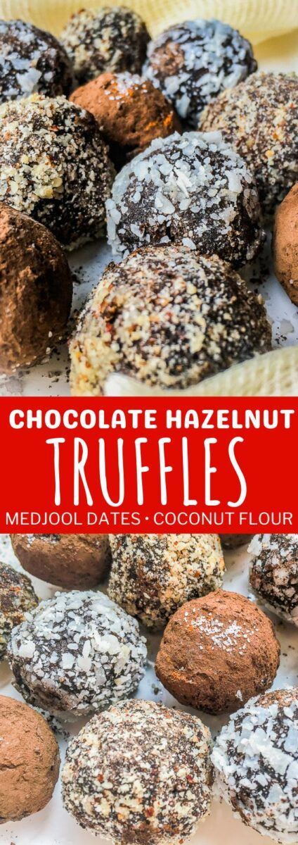 Chocolate Hazelnut Truffles with Medjool Dates & Coconut Flour