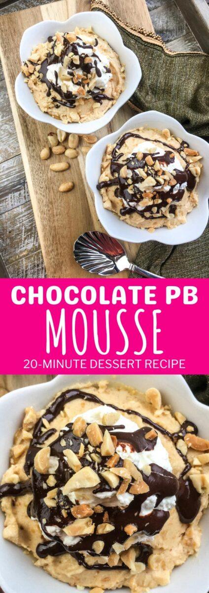 Chocolate Peanut Butter Mousse Dessert Recipe