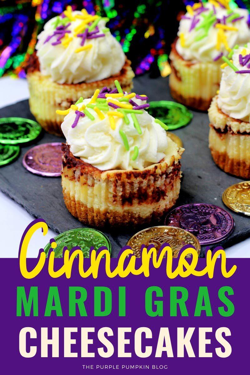 Cinnamon Mardi Gras Cheesecake