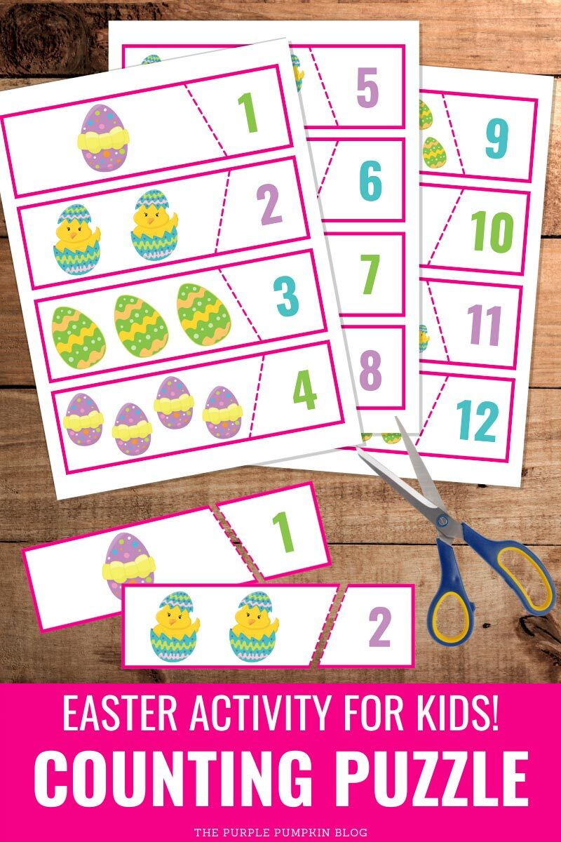 Counting Puszzle Easter Activity For Kids!