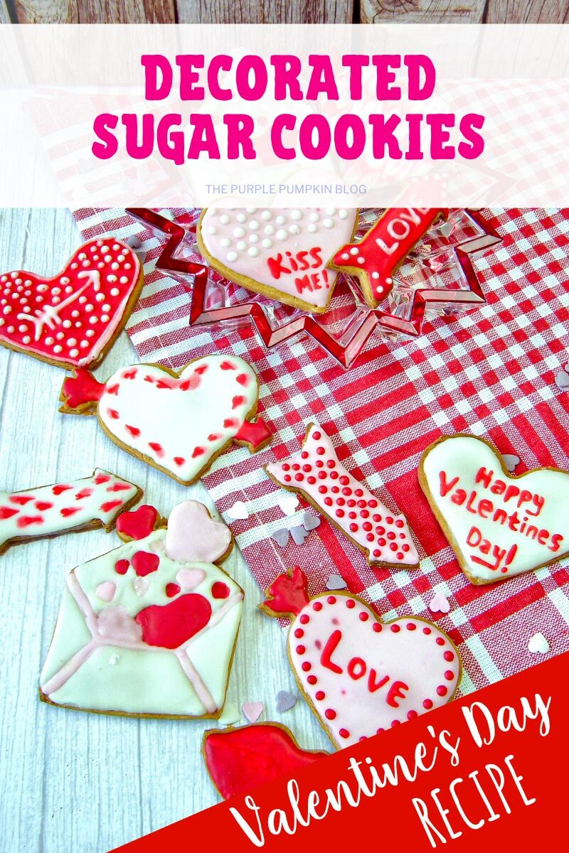 Decorated Sugar Cookies - Valentine's Day Recipe