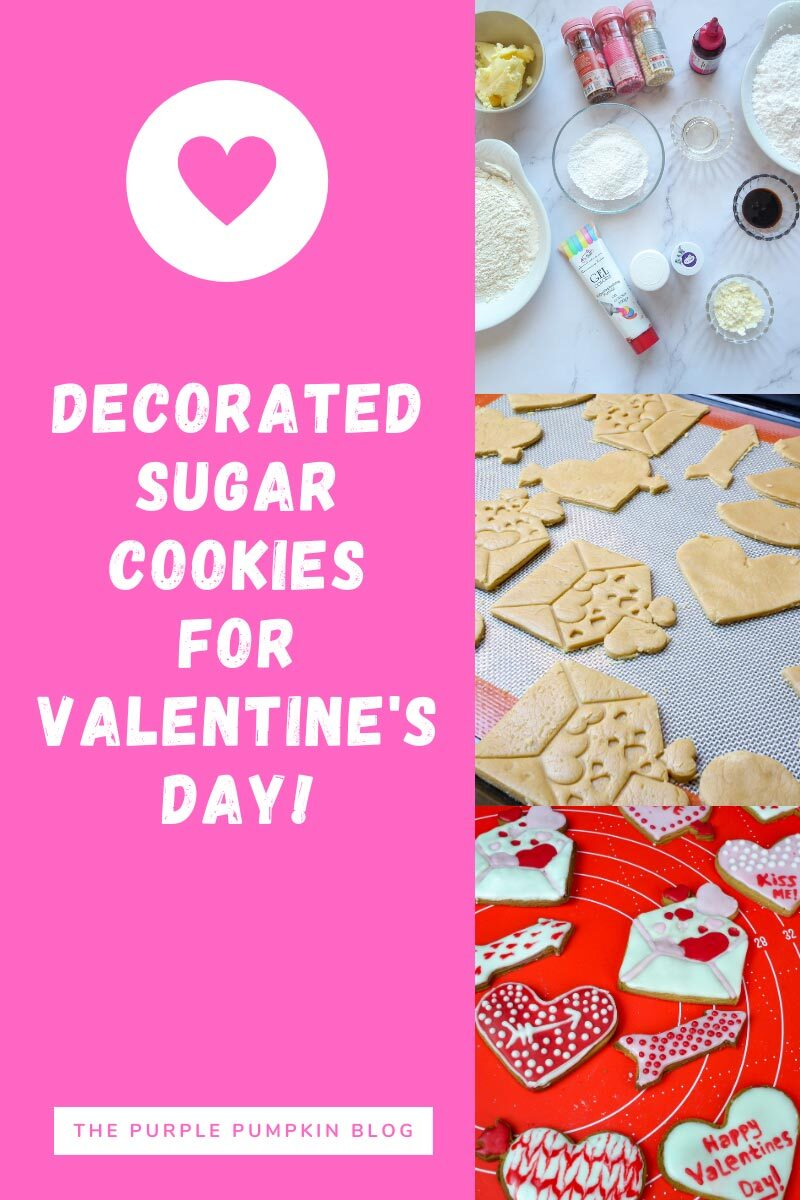 Decorated Sugar Cookies for Valentine's Day