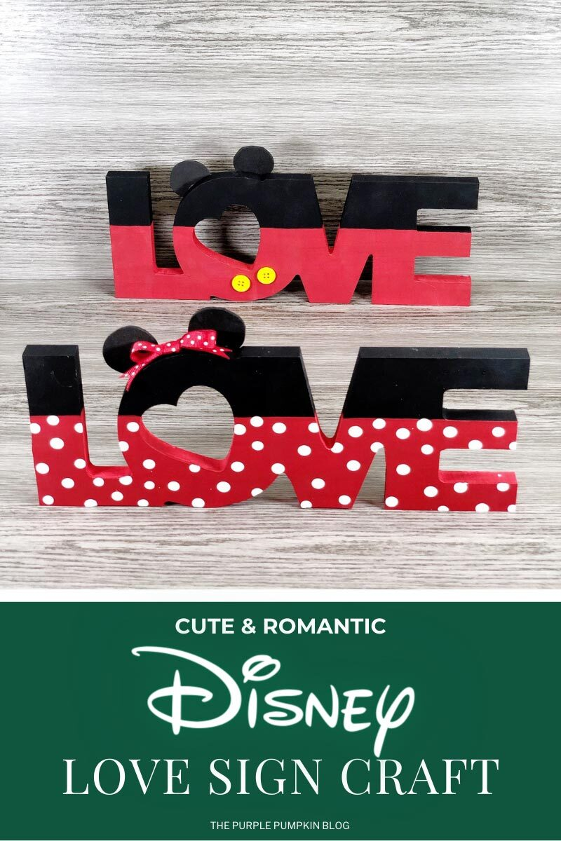 Disney Love Sign Craft