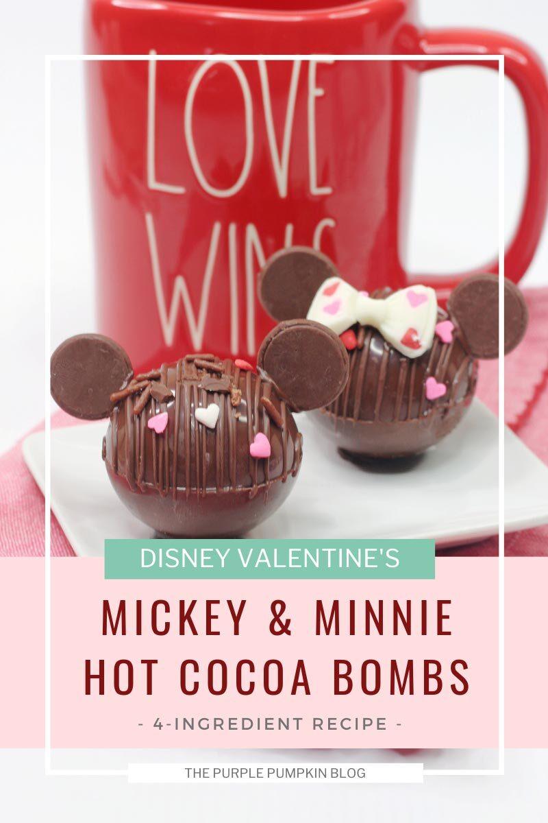 Disney Valentine's Mickey & Minnie Hot Cocoa Bombs