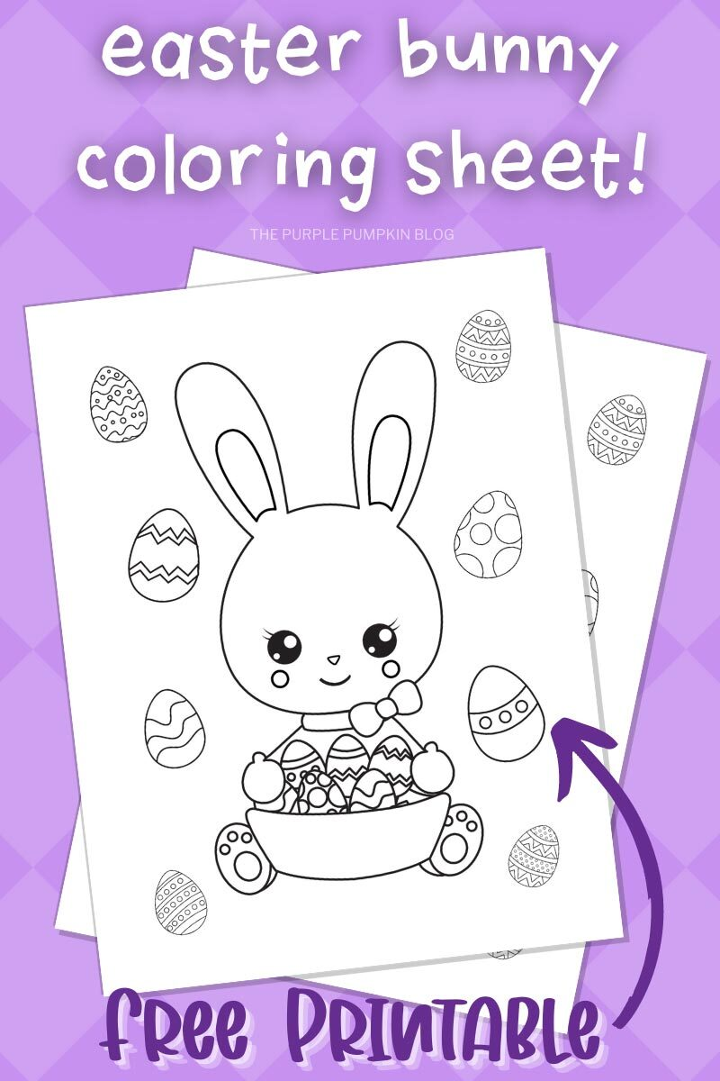 Easter Bunny Coloring Sheet - Free Printable