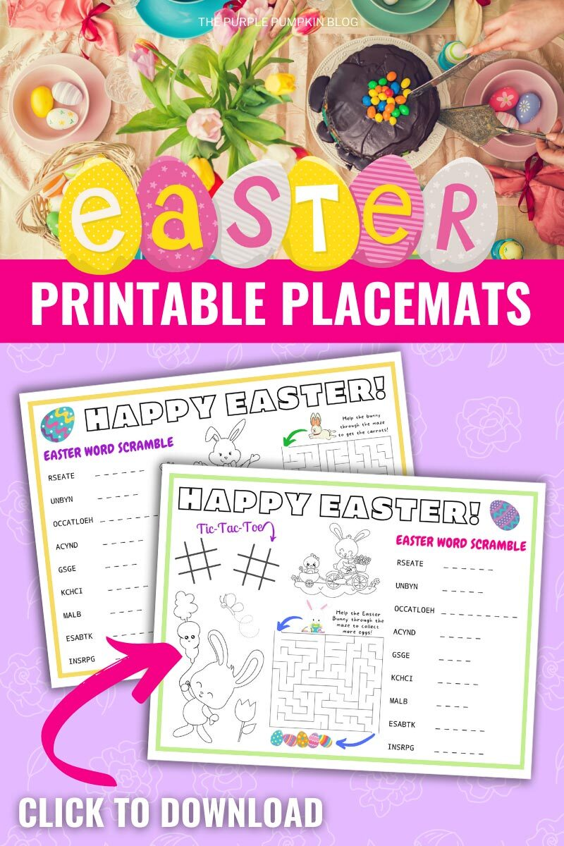 Easter Printable Placemats