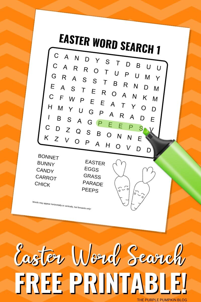 Easter Word Search Free Printable!