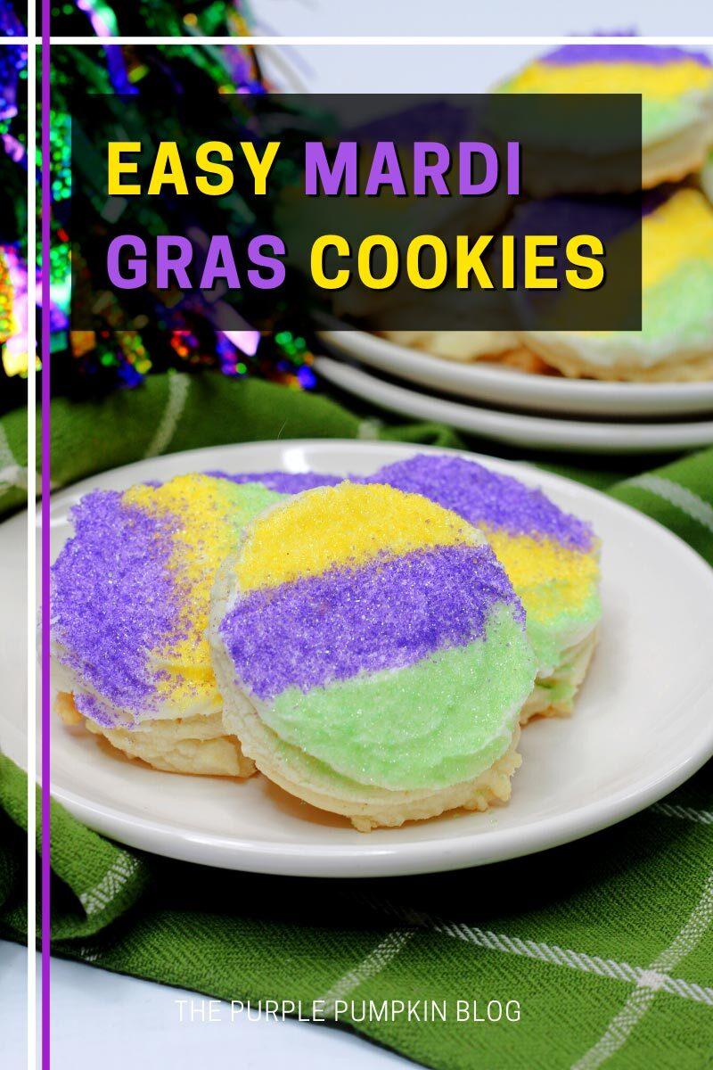 Easy Mardi Gras Cookies