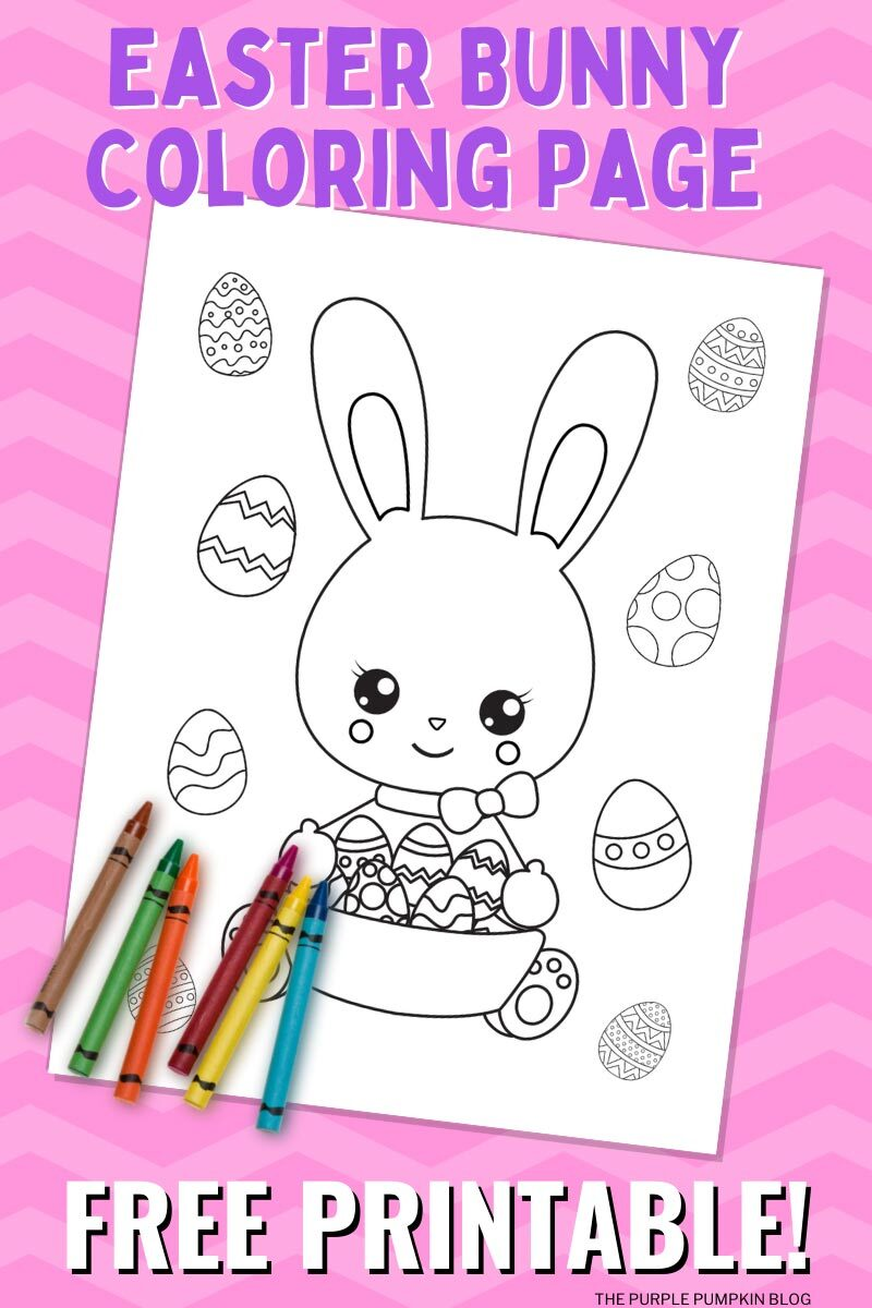 Free Easter Bunny Coloring Page Printable