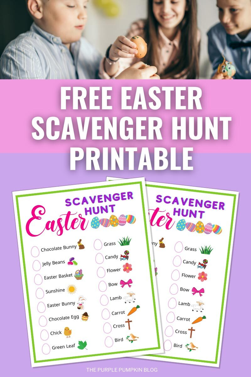 Free Easter Scavenger Hunt Printable
