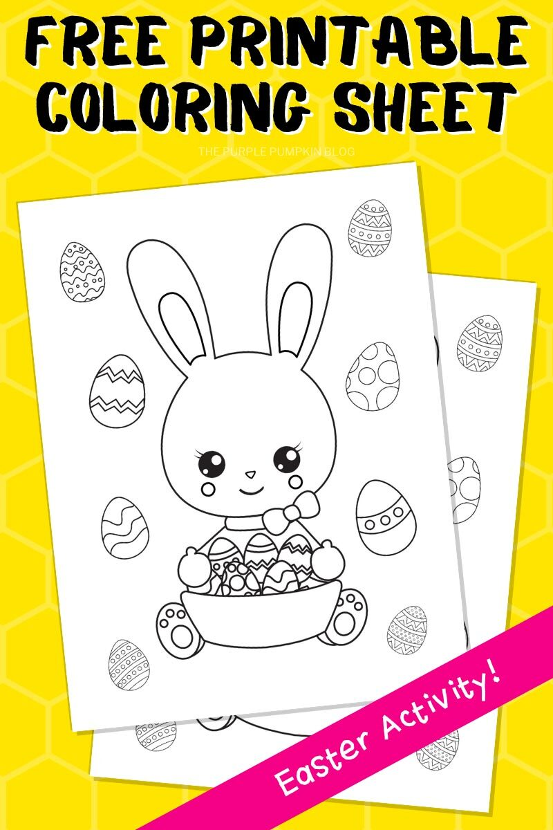 Free Printable Coloring Sheet - Easter Activity