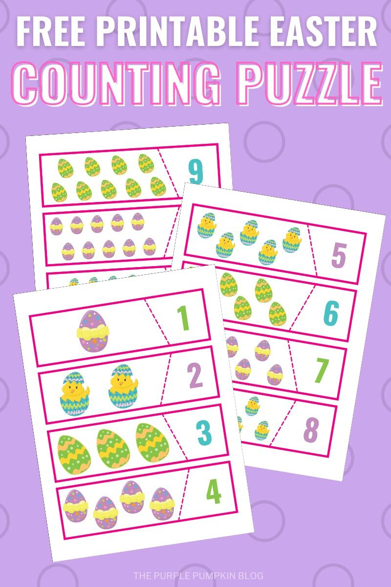 Free Printable Easter Counting Puzzle for Kids