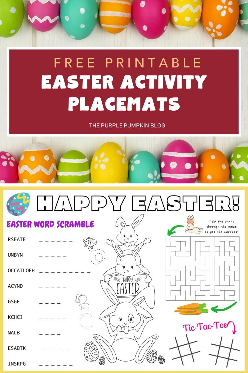 Free Printable Easter Activity Placemats