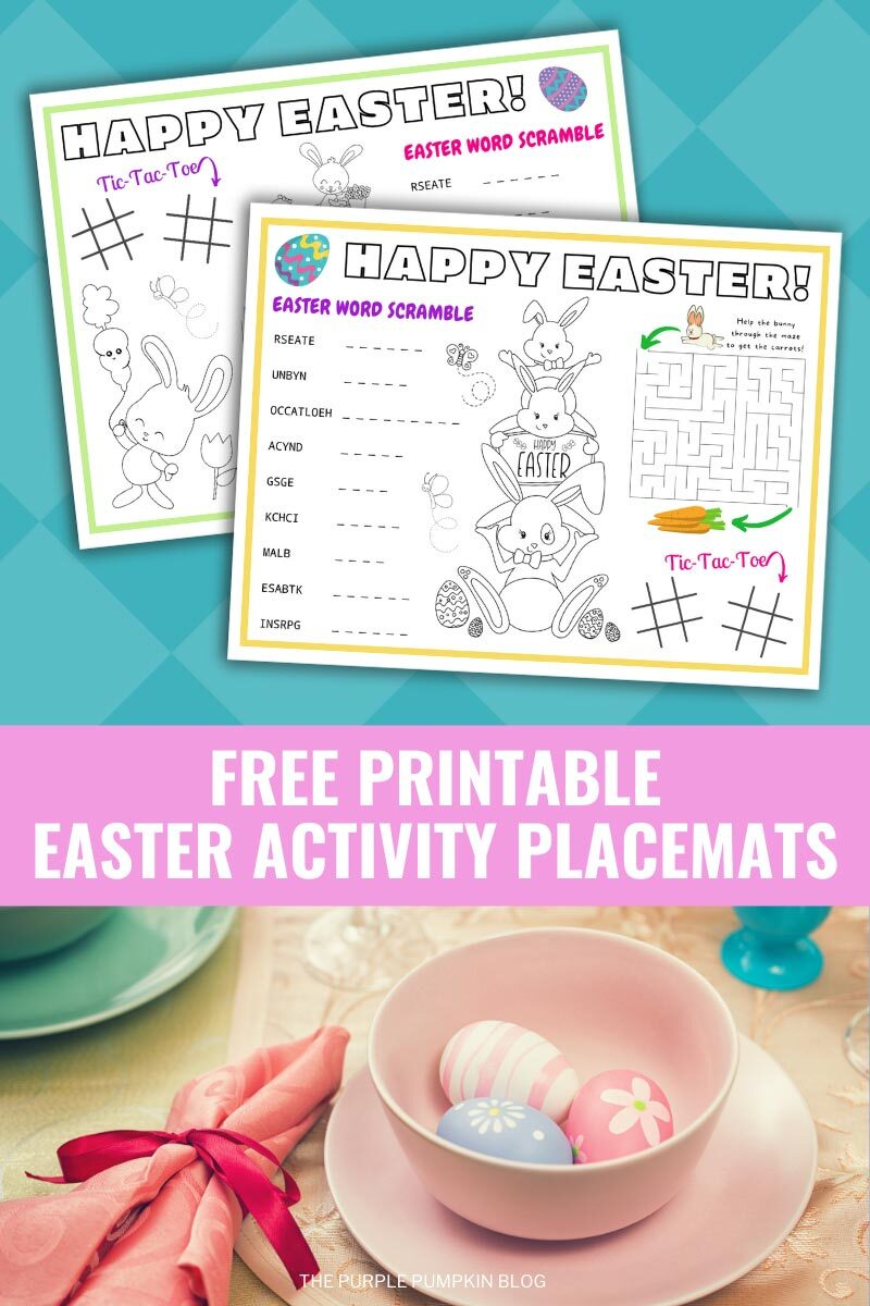 Free Printable Easter Activity Placemats To Print at Home