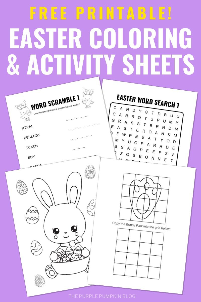 Free Printable Easter Coloring & Activity Sheets