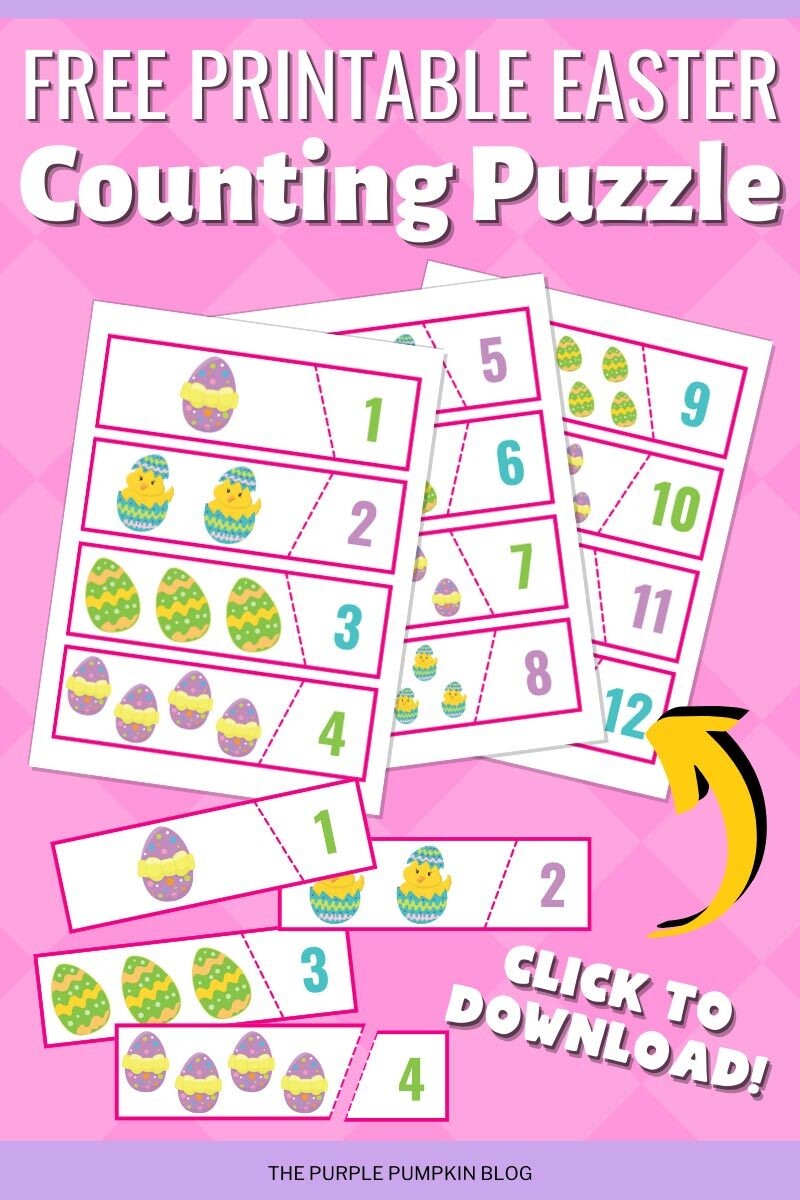 Free Printable Easter Counting Puzzle to Download