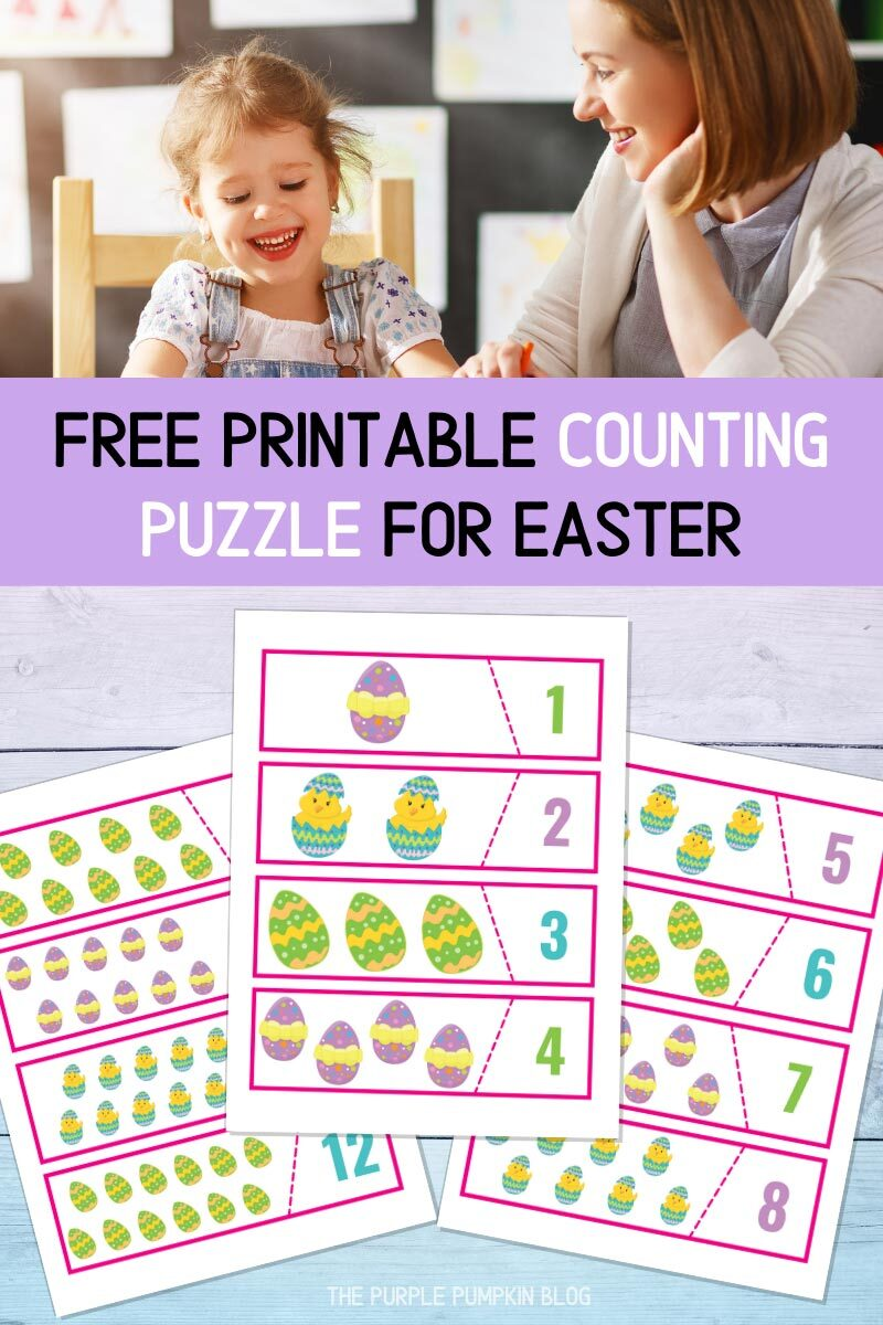 Free Printable Easter Eggs Counting Puzzle
