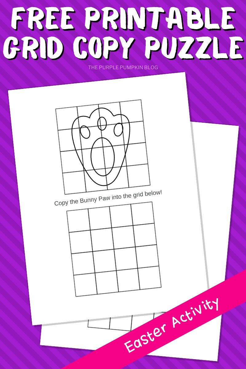 Free Printable Grid Copy Puzzle - Easter Activity