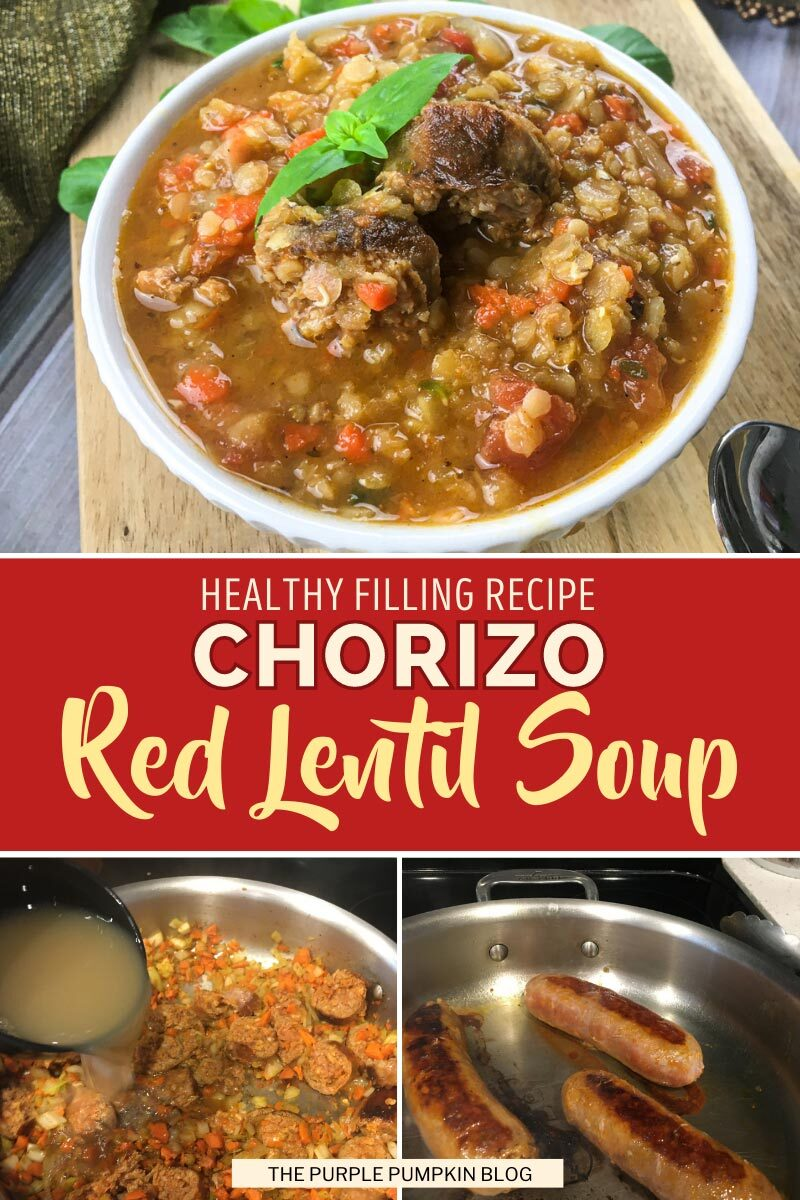 Healthy Filling Recipe for Chorizo Red Lentil Soup