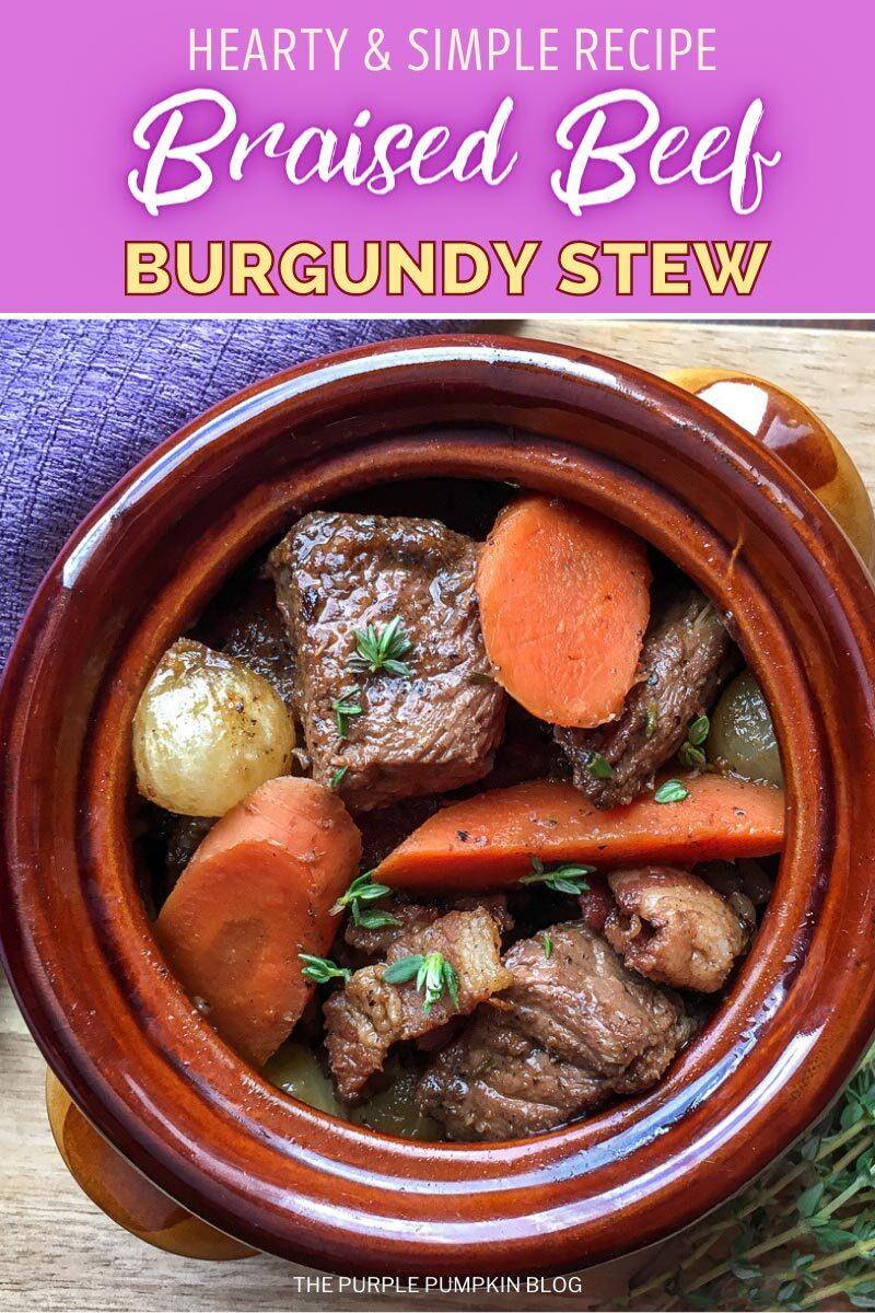 Hearty Braised Beef Burgundy Stew
