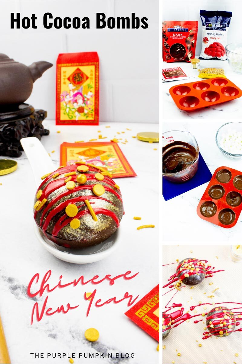 Hot Cocoa Bombs Recipe for Chinese New Year