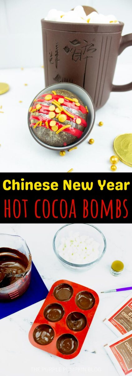 Hot Cocoa Bombs for Chinese New Year